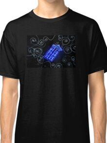 Dr Who Tardis painted with LED light Classic T-Shirt