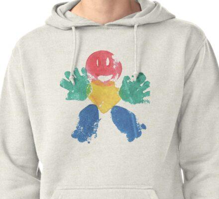 A Nice Print Pullover Hoodie