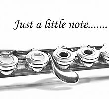 Flute Note Card: Just a Little Note by christymsrd