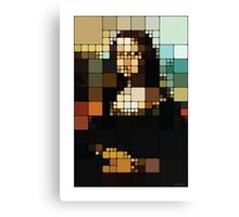 Monalisa Pixelated Canvas Print