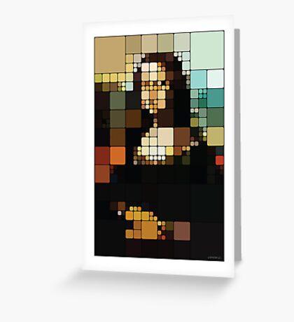 Monalisa Pixelated Greeting Card