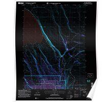 USGS Topo Map Oregon Egli Rim 279764 2004 24000 Inverted Poster