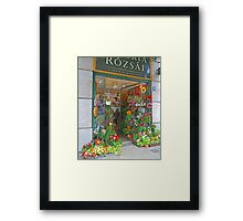 Flower shop, Budapest, Hungary. Framed Print