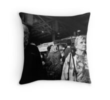 busted at point blank range Throw Pillow