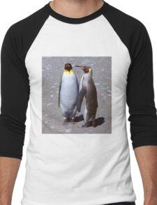 King Penguin Conversation, 'Oh no! I don't think so.' Men's Baseball ¾ T-Shirt