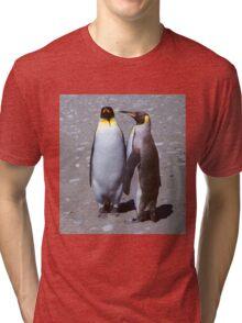 King Penguin Conversation, 'Oh no! I don't think so.' Tri-blend T-Shirt