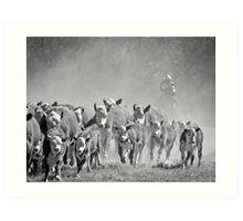 Bringin' in the Herd Art Print