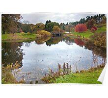 Pond at Cornell University Plantations, Ithaca, NY Poster