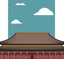 Chinese Temple by tshirtdesign