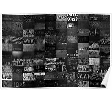 Ancient names fragments - Jewish cemeteries Poster