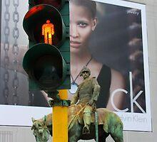 Elements of the Three Centuries Together. Piazza Missori, Milan, Italy 2011 by Igor Pozdnyakov