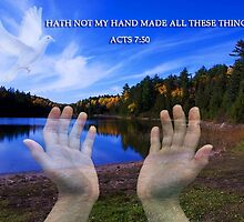 HATH NOT MY HAND MADE ALL THESE THINGS? -CHRISTIAN PICTURE- CARDS-ECT.. by ✿✿ Bonita ✿✿ ђєℓℓσ