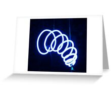 Blue coil Greeting Card
