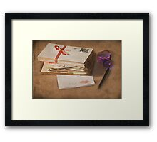 X is for.....Three kisses Framed Print