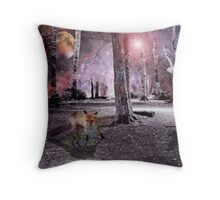 Silent wood Throw Pillow