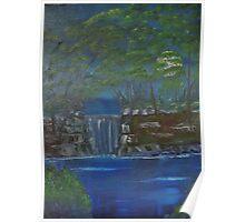 Beautiful Night at Stepping Stone Falls Poster