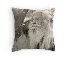 Portrait of a Senior Throw Pillow