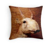 Saiga Antelope Throw Pillow