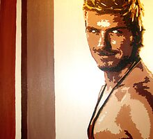 David Beckham in pop art by db artstudio by Deborah Boyle