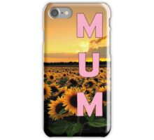 Sunflower Mum iPhone Case/Skin