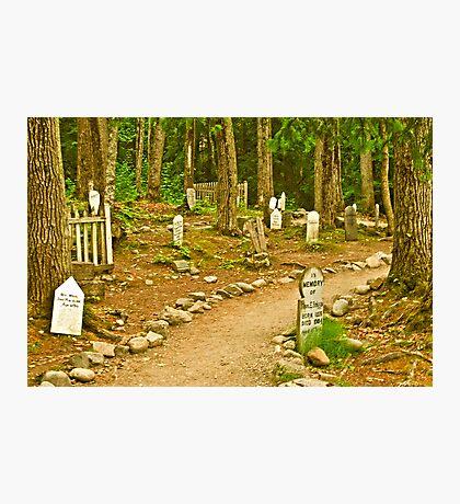 Gold Rush Cemetery Photographic Print