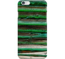 Pretty colors on a cabin in the mountains.... iPhone Case/Skin