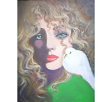 LADY WITH A WHITE DOVE Photographic Print