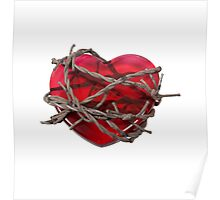 Barbed Wire Heart Poster