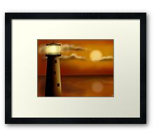 Lighthouse in the evening Framed Print