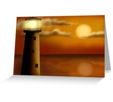Lighthouse in the evening Greeting Card