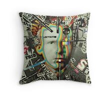 Living Parisian Poster of Van Gogh Aged 13 [Read all About It Number 8.7 Billion.. Throw Pillow
