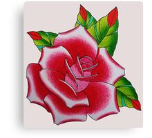 tattoo rose Canvas Print