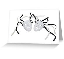 Comedy and Tragedy Faces Greeting Card