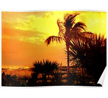 Sanibel Sunset Poster