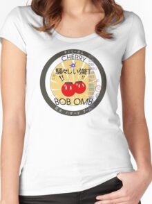 Cherry Bob Omb Fire Cracker Label Women's Fitted Scoop T-Shirt
