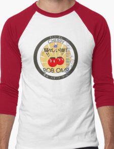 Cherry Bob Omb Fire Cracker Label Men's Baseball ¾ T-Shirt