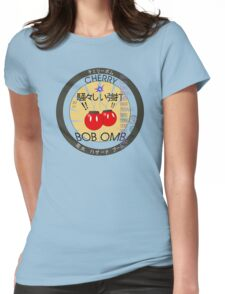 Cherry Bob Omb Fire Cracker Label Womens Fitted T-Shirt