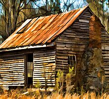 Old Cabin In The Woods by Randall Faulkner