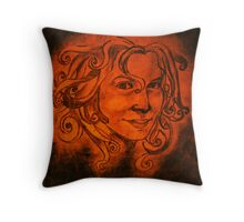 Old French Woman Throw Pillow