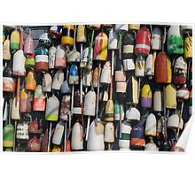 Buoys just hanging around Poster