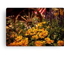 Philadelphia Flower Show. Garden. Canvas Print