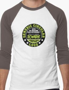 Generic Circular Logo Men's Baseball ¾ T-Shirt