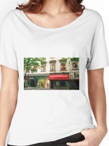 Shop Facade, Vienna, Austria (Panorama) Women's Relaxed Fit T-Shirt