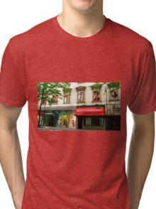 Shop Facade, Vienna, Austria (Panorama) Tri-blend T-Shirt