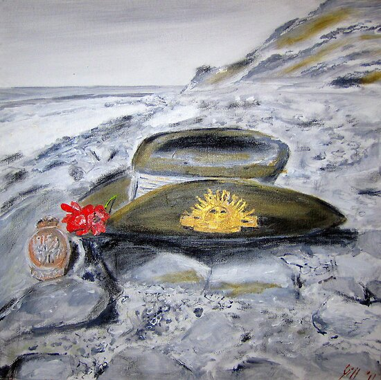 """ANZAC DAY """"LEST WE FORGET""""  by gillsart"""