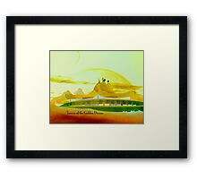 Towers of the Golden Dream Framed Print