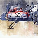 Alfa Romeo T33 TT3 1972 Targa Florio  by Yuriy Shevchuk