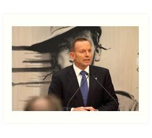 Former Prime Minister Of Australia Tony Abbott Art Print