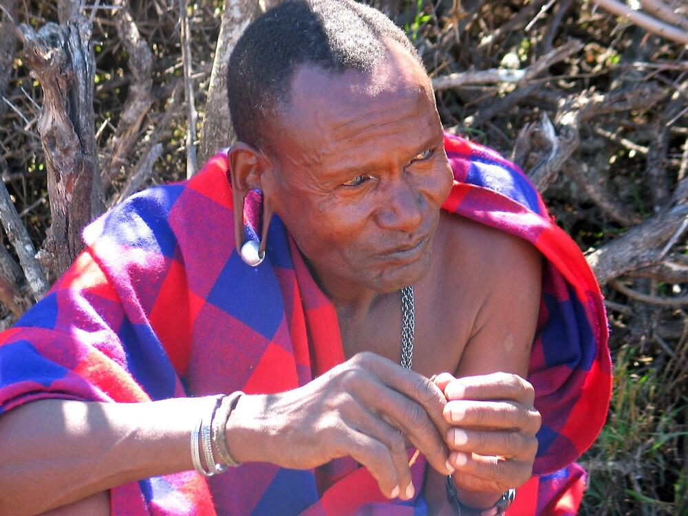 Masaii chief by William Moffitt