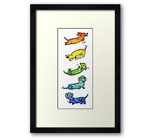 Watercolor Dachshunds Framed Print